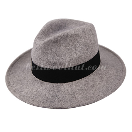 a gray fedora hat wool felt hat
