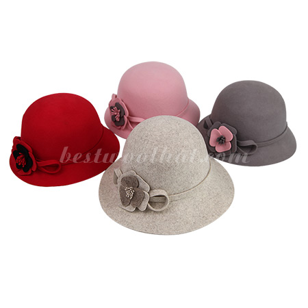 red clothe hat wool felt hat